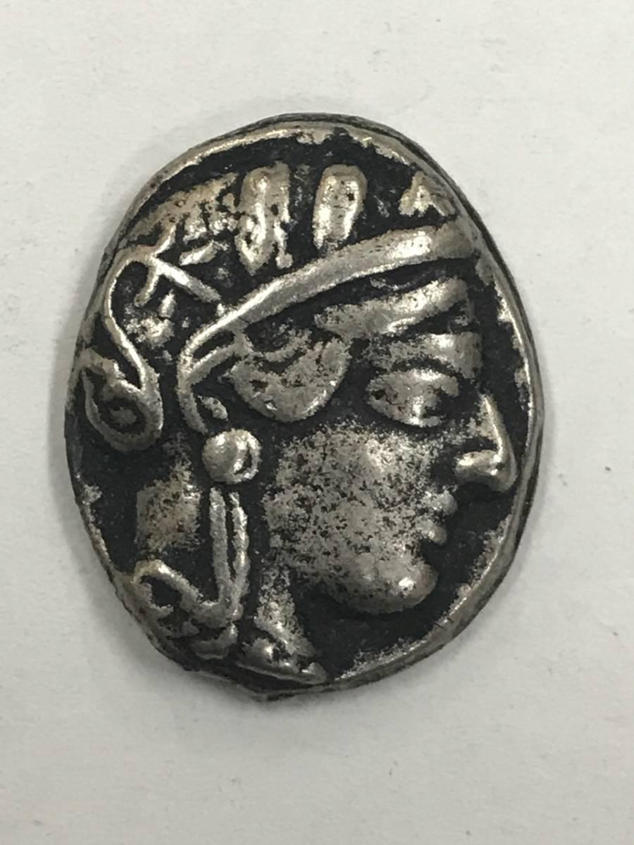 古代ギリシャ 古銭 フクロウ銀貨 梟